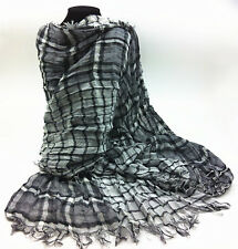 Men's thickening Scarf Wraps Shawl Plaid Very unique crinkle super for Gues