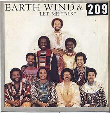 "EARTH WIND & FIRE - Let me talk - VINYL 7"" 45 LP ITALY 1980 VG+ COVER VG-"