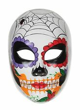 Day Of The Dead Multi Colour Female Mask Halloween Fancy Dress Accessory P9404