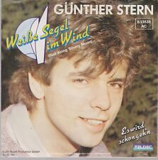 """7"""" Günther Stern Weiße Segel im Wind (Coverversion) 80`s Teldec"""
