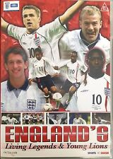 ENGLAND'S LIVING LEGENDS & YOUNG LIONS [DVD] R0 PAL, Free P&P UK