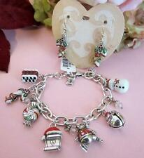 Brighton CANDY CANE Christmas Charm Bracelet & Earrings Set of Two NWT