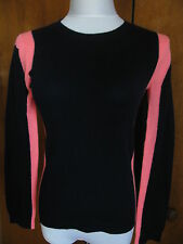 New w/tag Aqua Women's 100% Cashmere Navy/Coral Sweater Size Small