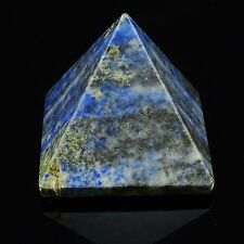 Lapis Lazuli Pyramid Gemstone Sacred Healing Energy Feng Shui Reiki Table Décor