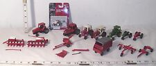 ERTL CASE & INTERNATIONAL FARM 1/64TH SCALE LOT OF TRACTORS  & IMPLEMENTS TOYS