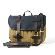 NEW! FILSON MEDIUM FIELD BAG TAN & NAVY - CARRY ON  #70091 EXPEDITED SHIPPING!