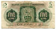 MILITARY AUTHORITY IN TRIPOLITANIA ND 5 LIRE F+
