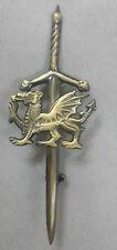 TE Celtic Welsh Dragon Kilt Pin Antique Finish/Antique Kilt Pin Welsh Dragon