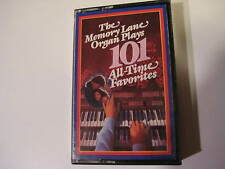 Lot of 4 Memory Lane Organ Plays 101 All-time Favorites Volume 1/2/3/4 Cassettes
