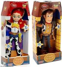 Disney Store Woodie & Jessie Talking Figure Pull String Doll Set Toy Story NIB