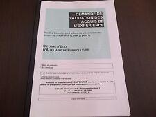 VAE AUXILIAIRE DE PUERICULTURE - LES 8 MODULES VALIDÉS + LIVRET VIERGE SOUS WORD