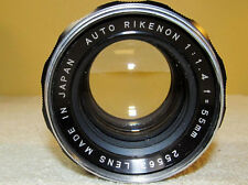 Good Condition! Auto Rikenon 55mm f1.4 1:1.4 No. 25563 M42 Mount Vintage Lens