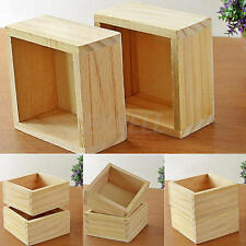 Wooden Garden Flower Herb Planter Succulent Pot Rectangle Trough Box Plant Bed