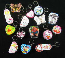 20pcs Cute Tin Metal Keychain Ring Box Container Jewelry Candy Boxs 5-8cm