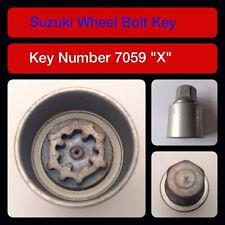 """Genuine Suzuki Bloccaggio Dadi Ruota/Chiave 7059 """"X"""""""