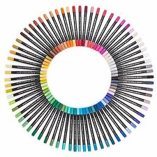 New & Unboxed Dual-Tip Brush Markers | Non-Toxic Water-Based Ink | Set of 72