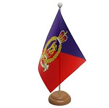 """ADJUTANT GENERAL CORPS TABLE FLAG 9""""X6"""" WITH WOODEN BASE FLAGS BRITISH ARMY"""