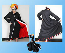 Japanese Anime cosplay costumes Bleach Costume Kurosaki ichigo Cloak Only Size L