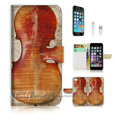 iPhone 6 (4.7') Flip Wallet Case Cover! P0742 Violin
