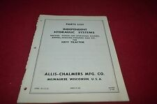 Allis Chalmers Hydraulic System For HD11 Tractor Dealer's Parts Book DCPA6