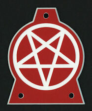 GUITAR TRUSS ROD COVER - Engraved - JACKSON - PENTAGRAM 666 - OVERSIZED XL - RED