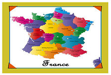 FRANCE MAP - SOUVENIR NOVELTY FRIDGE MAGNET - SIGHTS & FLAG - BRAND NEW / GIFT