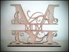 "Free standing ""MUM"" MDF blank craft Plaque/sign"