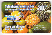 DOM-TOM  TELECARTE / PHONE CARD  .. ILE MARTINIQUE 80F OUTREMER FRUITS AA84 EM