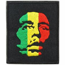 Bob Marley Head Africa Judah Rasta Rastafarian Reggae Hippie Iron On Patch #R001