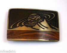 Saturn Planet Gas Giant Rings Sky West 1984 New Mexico Vintage Belt Buckle jj4