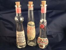 Fantasy Glass Potion Bottles Set of 3: Dragon Blood, Love No.9, and Eye of Newt