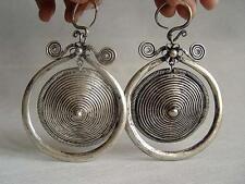 Wonderful Tibet minority Miao silver women's earring