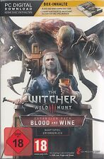 The witcher 3: wild Hunt-Blood and wine-pc-Edition limitée! nouveau & OVP