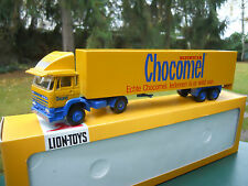"LION TOYS 1/50 DAF 1900 + SEMI-REMORQUE FOURGON "" CHOCOMEL "" MINT IN BOX"