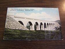 SIDE VIEW NICHOLSON BRIDGE  NICHOLSON PA  - NEAR  SCRANTON  PA  POST CARD - VG