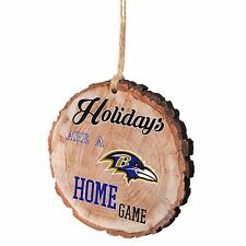 Baltimore Ravens Christmas Tree Holiday Ornament Stump Holidays are a Home Game