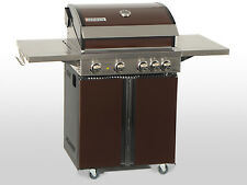 Coobinox ® Edelstahl Gasgrill 4 Brenner CHOCO BBQ Gasgrill Griller Außenküche