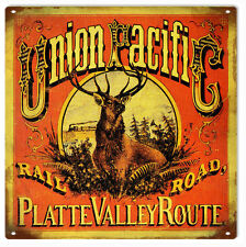 Union Pacific Platte Valley Route Railway Sign