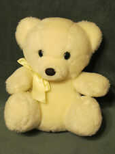 "9"" VTG 1985 PRESTIGE BABY CREAM SUNSHINE TEDDY BEAR STUFFED ANIMAL PLUSH RATTLE"