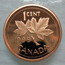 1999 CANADA 1 CENT PROOF PENNY COIN