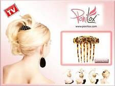 NEW PONILOX Brown Twist Pivoting Barrette Hair Comb in One for Fabulous Updos