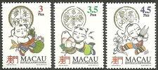 Macau - Glückssymbole Satz postfrisch 1994 Mi. 776-778