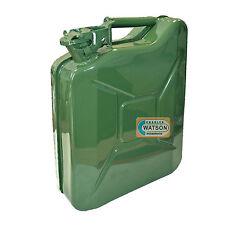 10 litri in metallo JERRY può COMBUSTIBILE LIQUIDO PETROLIO VERDE MILITARE ESERCITO CONTENITORE
