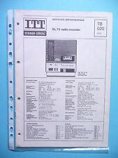 Service Manual-Istruzioni per ITT/Schaub-Lorenz SL 73, ORIGINALE