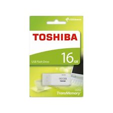 16GB Toshiba TransMemory USB 2.0 Storage Flash Memory Stick Drive U202 - White