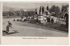 1903 PHILADELPHIA ZOO Zoological Gardens Postcard Philadelphia PA