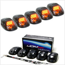 5x Cab Roof Top AMBER LED Lights AMBER Lens Marker Running Lamps truck RV 4X4