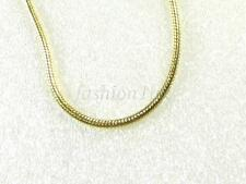 New Unisex 14K Yellow Gold Plated 40cm Spring Ring Smooth Rope Chain Necklace