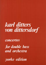 Dittersdorf: Double Bass Concertos Nos. 1 and 2, ed. Slat... YE0059