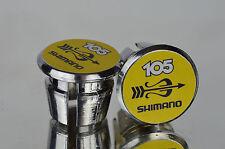 Shimano 105 golden arrow Handlebar End Plugs Bar Caps endstopfen lenkerstopfen